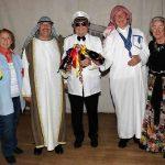 Die 3 Gewinner Alfred, Horst, Edgar eingerahmt von Christine und Thea