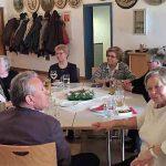 Wendelin, Elfriede mit Gästen am Aschermittwoch